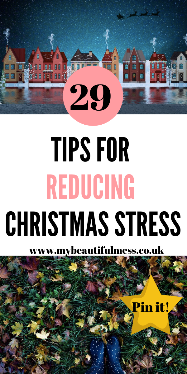 Here are 29 ways to help you reduce Christmas stress with free printables too by Laura at My Beautiful Mess #Christmas #Stress #SelfHelpo