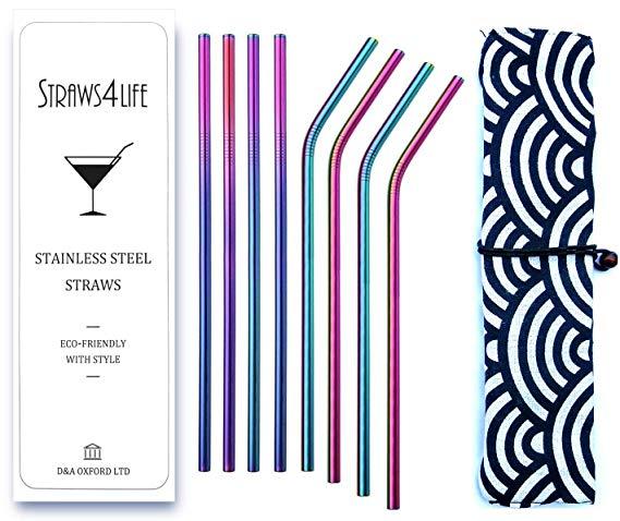 Straws4Life | Eco Friendly Premium Reusable Stainless Steel Drinking Straws*