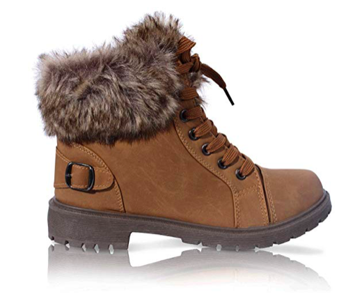 Ladies Faux Fur Grip Sole Winter Warm Ankle Womens Boots Trainers Shoes Size 3-8*