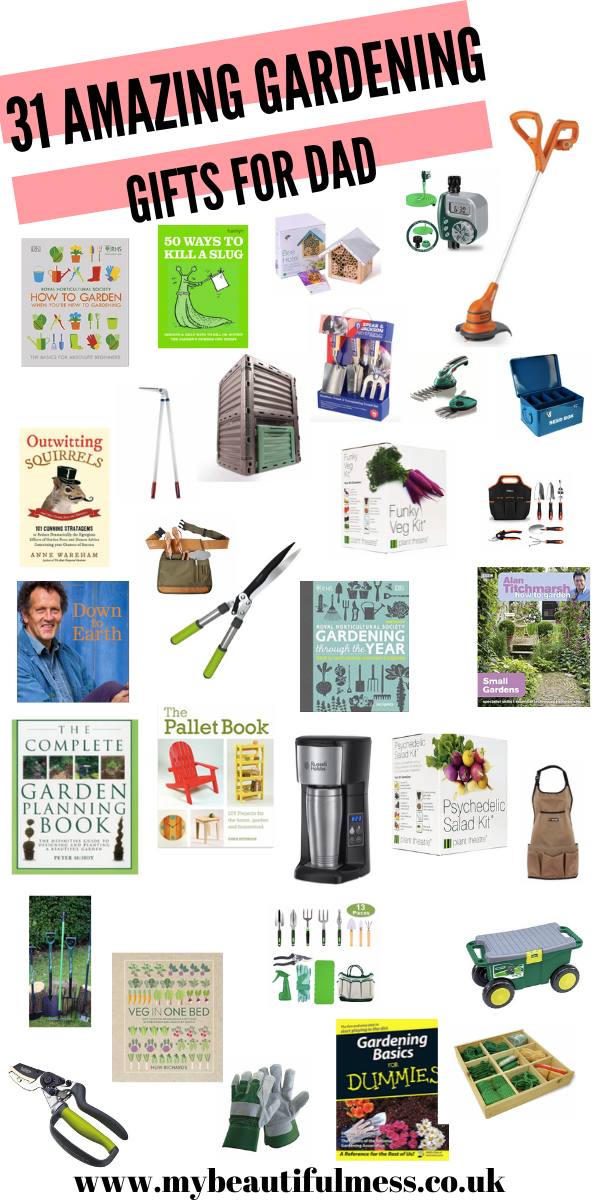 Looking for the perfect gardening gifts for dad? Then this post of 31 gardening gifts for dad is the perfect list for a hard to buy for dad by Laura at My Beautiful Mess
