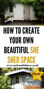 Are you looking for your own space to relax and re-charge in? Then have a look at a She Shed and how having one can help you de-stress by Laura at My Beautiful Mess