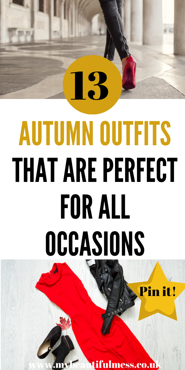 Here are 13 autumn outfits that are perfect for all occasions. Wear these to work and on a night out with friends. All these are affordable too by Laura at My Beautiful Mess #autumnoutfits #autumnclothes #autumndresses
