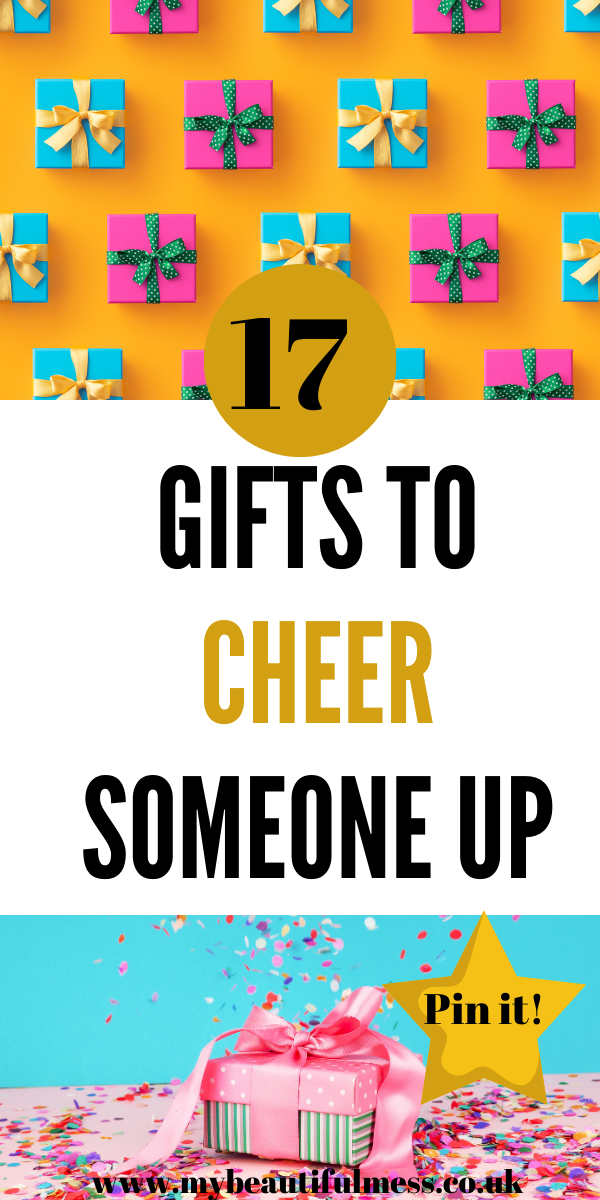 Looking to cheer a loved one or friend up? Then try one of these 17 gifts to cheer someone up that are sure to put a smile on their faces by Laura at My Beautiful Mess #GiftsToCheerSomeoneUp #Gifts