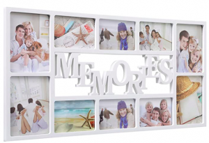 This is a white memories frame