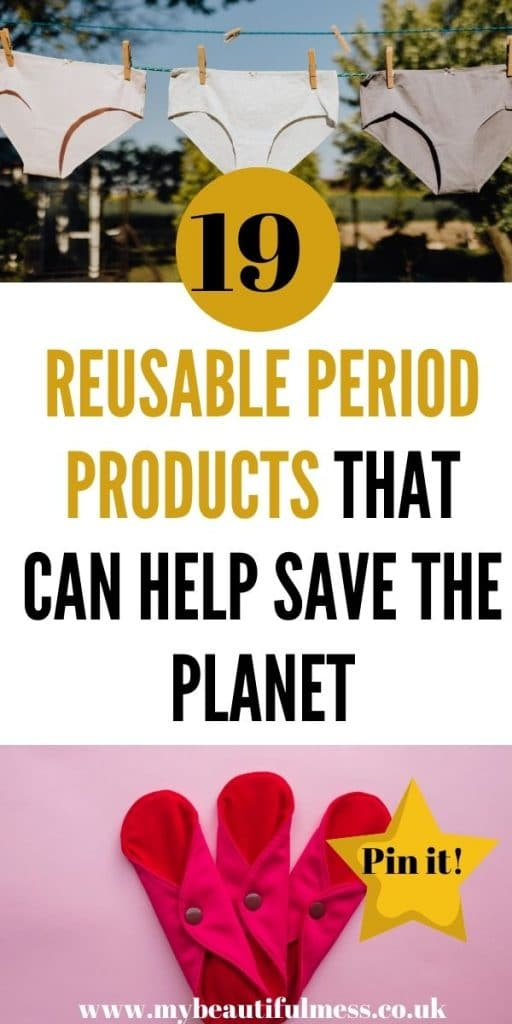 This is the best list of reusable period products that can not only help save the planet but also money. We've covered everything from period pants to cups that really can help you have a better period by Laura at My Beautiful Mess