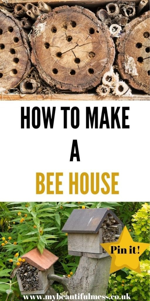 This is how to make a bee house from scratch with what you have at home. Bee homes and bee hotels are a great way to get bees into your garden by Laura at My Beautiful Mess