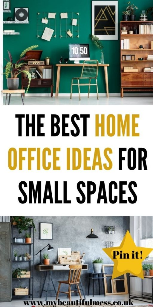 These are the best home office ideas for small spaces. We've come up with loads of ways that you can make your own office even if you have little room by Laura at My Beautiful Mess