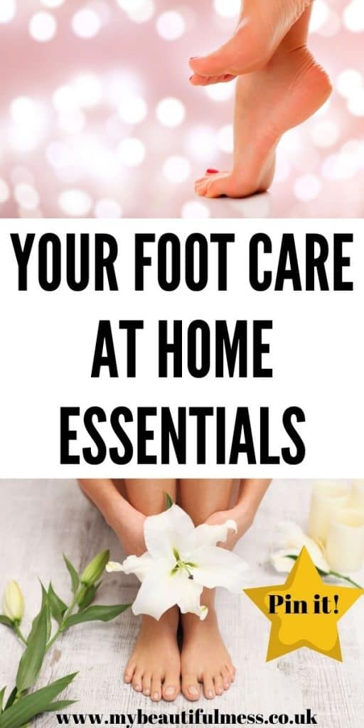 This is the best foot care at home post that explains how to look after your feet long term which includes essential foot care items by Laura at My Beautiful Mess