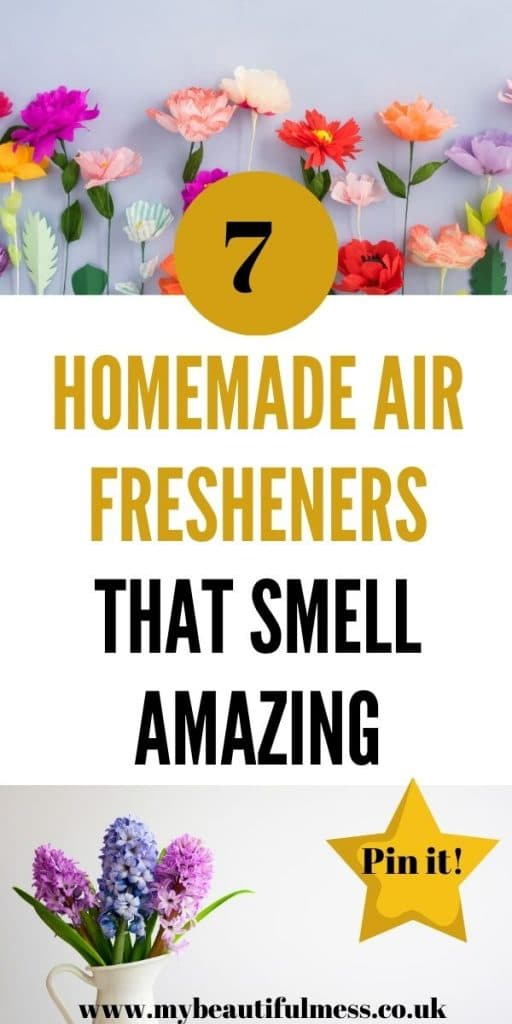 We have 7 homemade air fresheners ideas that you can use to help make your home smell fresh. These are all eco-friendly and easy to make by Laura at My Beautiful Mess