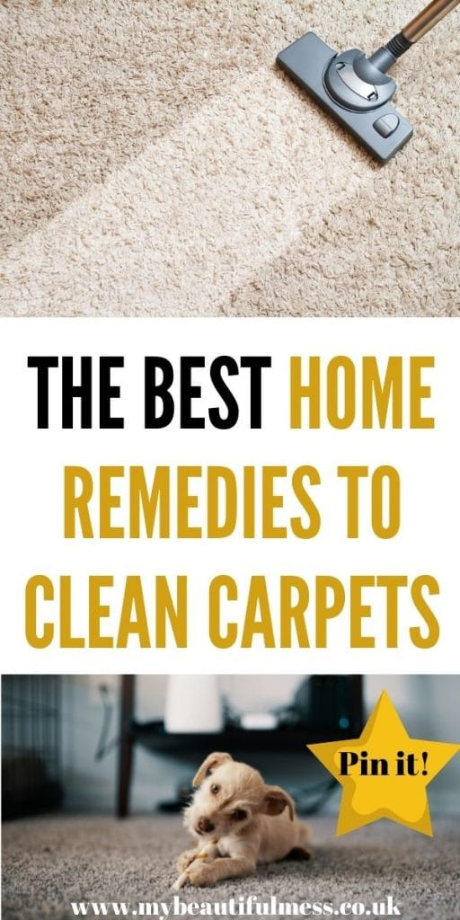 This post talks you through how to make your own home remedies to clean carpets. It's really easy to clean and go green by Laura at My Beautiful Mess