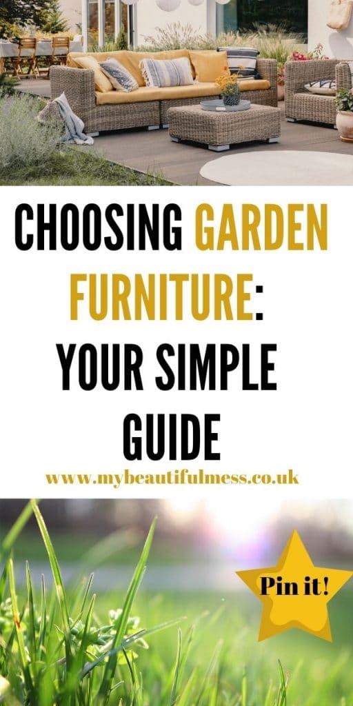 Choosing garden furniture isn't easy but this post talks you through all your options and which one could be right for you by Laura at My Beautiful Mess