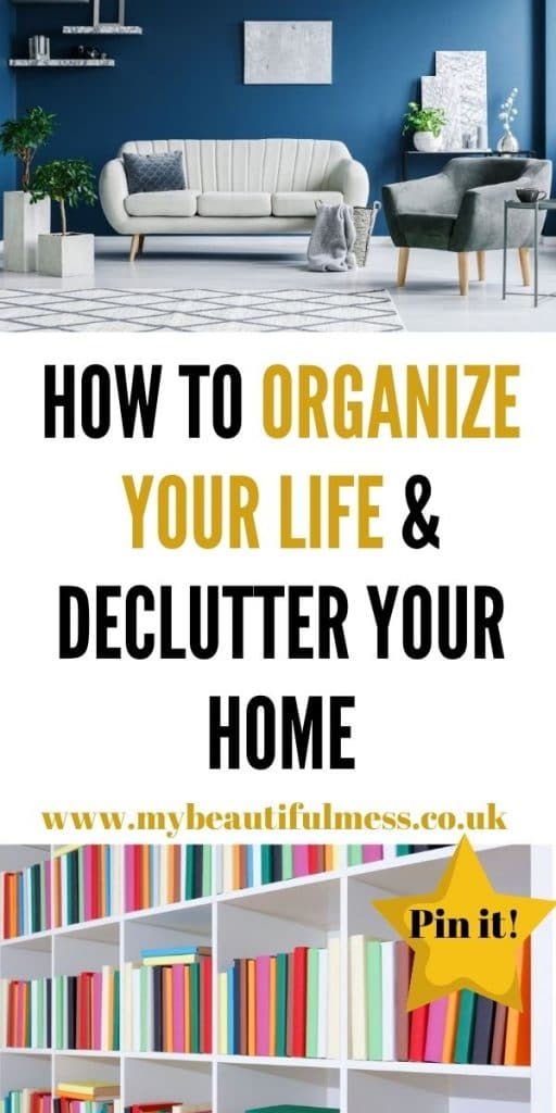 If you are looking for ways to organise your life then this post is for you. We explore how to declutter and take back control. by Laura at My Beautiful Mess