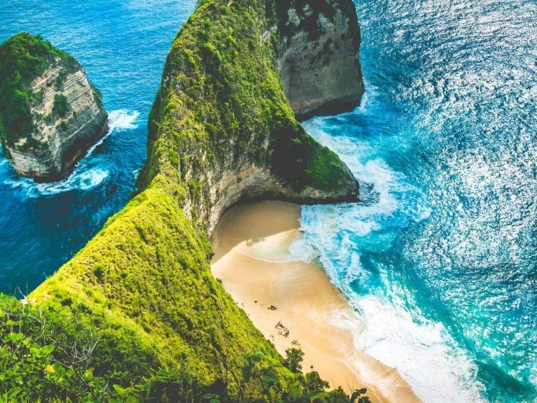 Bali beach and cliff