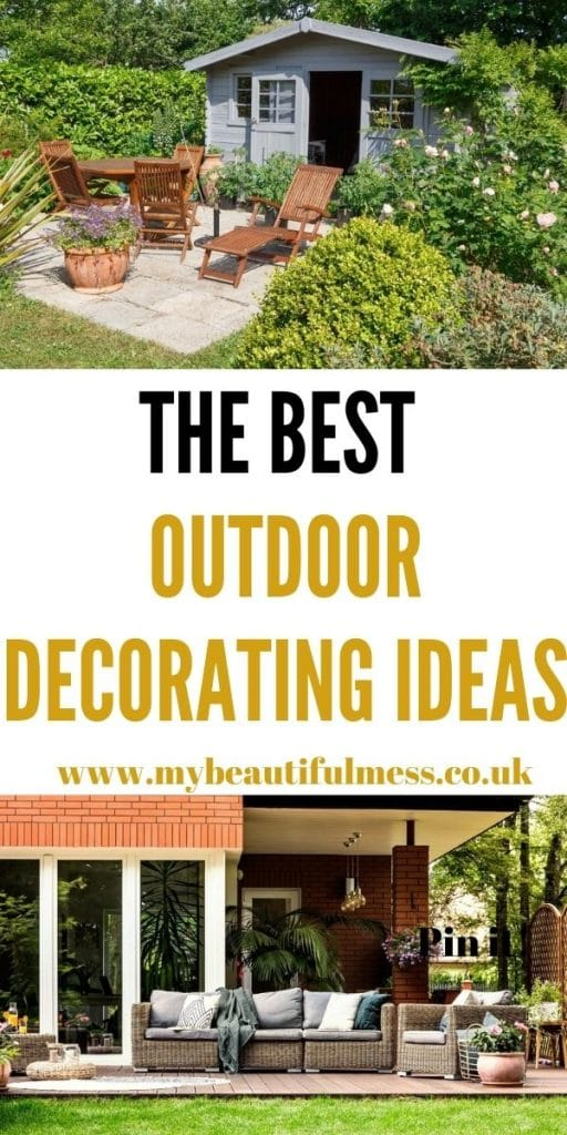 These are the best outdoor decorating ideas that can help you have the garden of your dreams. These are all easy things to do by Laura at My Beautiful Mess