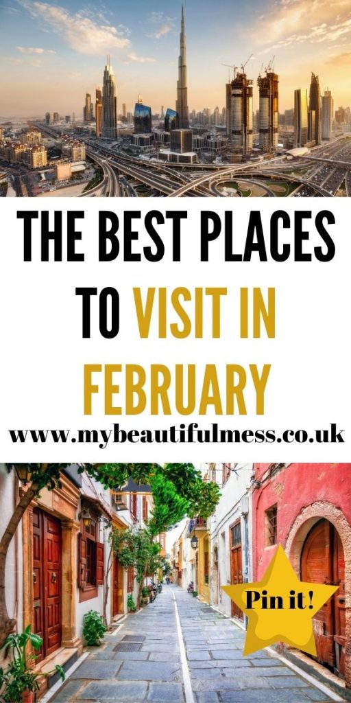 These are the best places to visit in February around the world! There's no need to stay in the UK and out up with all our bad weather by Laura at My Beautiful Mess