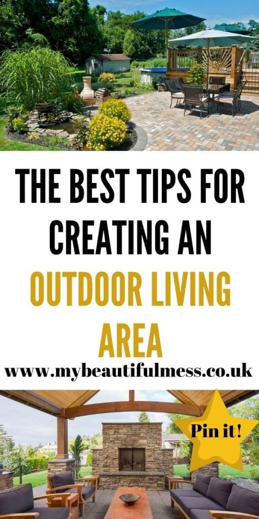 Creating an outdoor living area can help give you another room to dine in or enjoy as a family. This is how to make yours perfect here by Laura at My Beautiful Mess